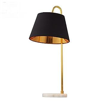 HNZZN Estilo nórdico hierro blanco negro lámpara de escritorio ...