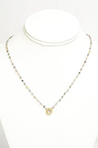 Clover Gold Vermeil Pendant Necklace with Multi-Color (Gold Vermeil Clover)