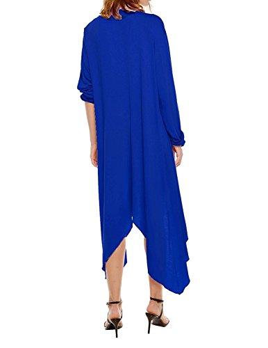Cardigan Asym Maxi Uni Manteau Oversize Manche Pull Vintage Longue Femme Tricot Longue Veste en UUxOrq8wz