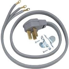 General Electric WX09X10011 3 Wire 50amp Range Cord, 5-Feet