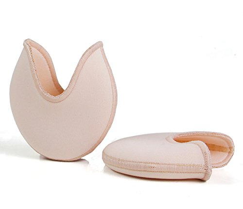 DANCEYOU JT01 1 Pair of Ballet Pointe Pads Toe Pads Protector Ouch Pouch Toe Pad, Casual Use, Ultra Soft Ballet Silicone Gel Toe Caps for Women Girls, 3 Sizes DANCE YOU