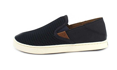 OluKai Pehuea Slipper - Womens Trench Blue/Trench Blue 6