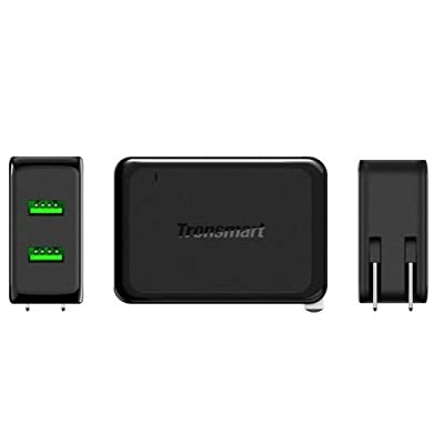 Tronsmart 4.8A Dual USB Wall Charger with Quick Charge 2.0 Technology.Foldable Plug for Galaxy S7, S7 Edge, iPhone 6s / 6 / 6 Plus, iPad Air 2 / mini 3, LG G4, Nexus 6 and More
