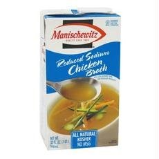 Manischewitz B58090 Manischewitz Low Sodium Chicken Broth -12x14 (Manischewitz Chicken Broth)