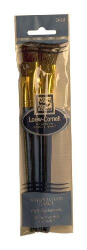 Loew-Cornell 2044 Brush Set, Natural Hair, Camel