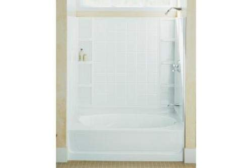 STERLING 71100122-0 Ensemble Bath and Shower Kit, 60-Inch x 36-Inch x 72-Inch, Right-Hand, White (Ensemble Shower)
