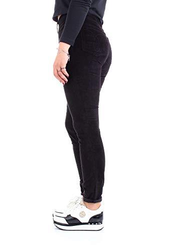 Corduroy Pantalone Klein Skinny Calvin Negro High Rise Donna qIwq1X