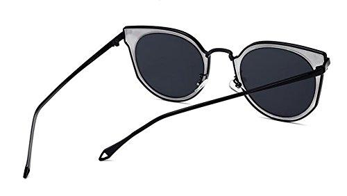 de retro soleil style du cercle Morceau vintage Noir de A inspirées lunettes métallique Frêne rond Lennon polarisées en xYwHxA