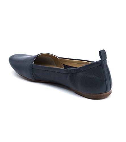 Leather Flats Latigo Womens Navy Closed gettie Toe Slide PgnHESwq