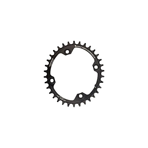 Oval Component - Wolf Tooth Components Elliptical Drop-Stop Single Chainring: 32T x 104 Black