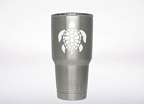 Sea Turtle decal Genuine ViaVinyl brand for Yeti and Rtic tumbler cups and mugs, laptops and MacBooks, iPads and tablets, iPhones and cell phones, automobile windows and more! (Vinyl Turtle)