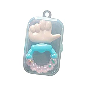dontdo Baby Infant Lovely Thumb Shape Rattles Biting Teething Teether Sound Toy