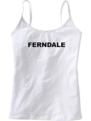FERNDALE - City Series - White Women's/Girls Camisole (Girlie/Babydoll) - size Small
