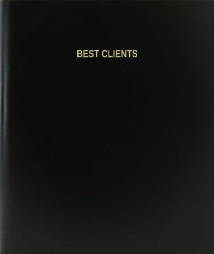 BookFactory® Best Clients Log Book / Journal / Logbook - 120 Page, 8.5''x11'', Black Hardbound (XLog-120-7CS-A-L-Black(Best Clients Log Book)) by BookFactory