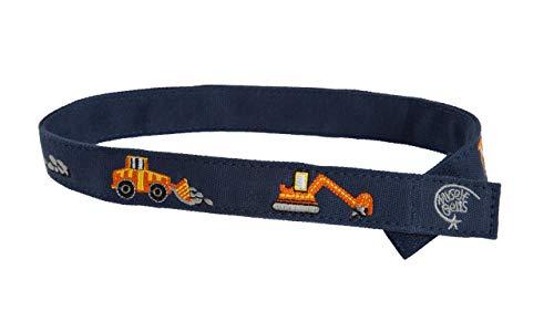 Myself Belts - Toddler and Kids Belt for Boys - Construction (5T)