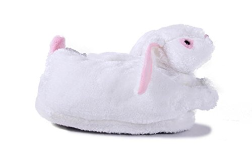 50+ Stilar - Premium Fullt Fot Happy Feet Mens Och Kvinna Djur Tofflor Kanin - Vit