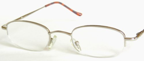 Dr. Dean Edell Silver Metal 1/2 Frames (18) - Sunglasses Peepers Dr