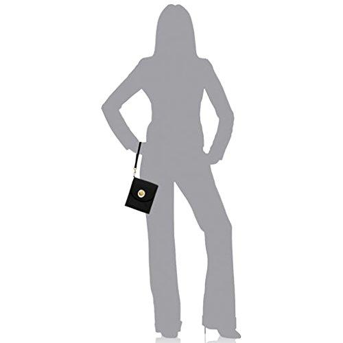 RFID Light Black Travel Baggallini Handbag Crossbody w Key Bundle Purse Wallet Athens Chain dxxa7qP