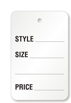1000 piezas Color sobrevuela una parte sin cordaje perforadas Cupón de etiquetas para precio etiqueta ropa/ropa...