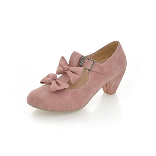 (MFairy Woman's Low Heel Vintage Lolita Shoes Cute Bowknot Mary Jane Shoes)