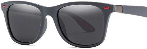 ZJIEJ Lunettes de Soleil Fashion Square Ladies Polarizing Sunglasses Uv400 Men's Glasses Classic Retro Design Sunglasses
