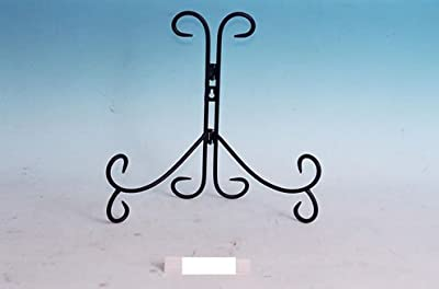 """Decorative Black Wrought Iron 12"""" Plate Stand Easel by Mayrich"""