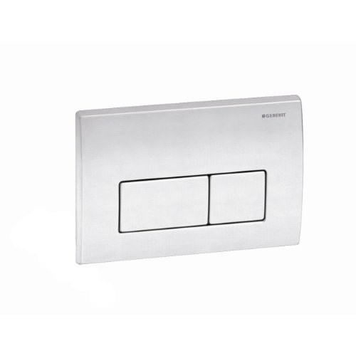 Geberit 115.258.00.1 Kappa50 Dual-Flush Actuator, Brushed Stainless Seel