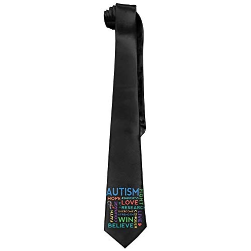 - Autism Awareness Men's Tie Long Necktie Skinny Neckwear Silk