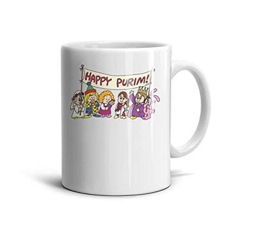 (vfrdxcc Happy Purim Costumes Kid Great Gift idea for Girlfriend 1 Set Coffee Mug White Ceramic Office)
