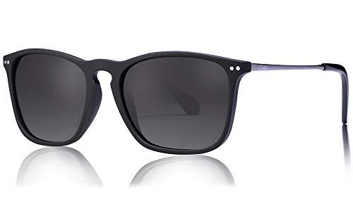 - Carfia Vintage Polarized Sunglasses for Men, 100% UV400 Protection (Grey Lenses)