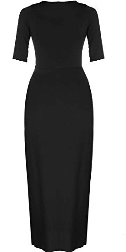 Round Neck Women Colored Comfy Size Solid Dress Luxury Black Waist Belted Plus qwXOqI7gF