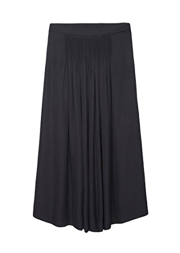 Maison Margiela Navy 100% Silk Long Tucked Skirt 42