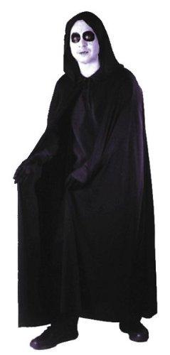 Velvet Hooded Cape Costume Accessory - Standard - Chest Size (Black Velvet Hooded Cape)