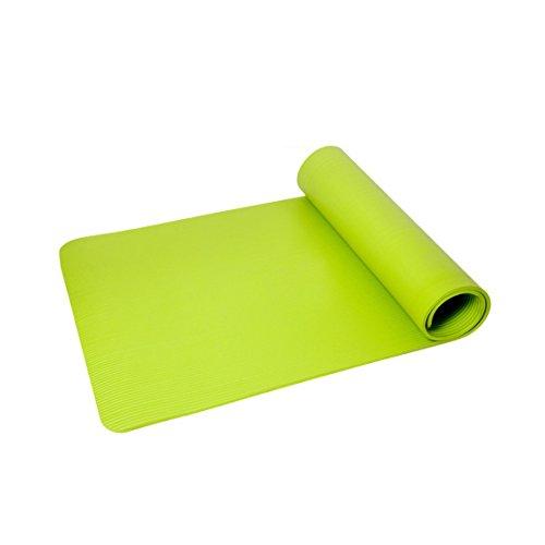 JIAYIBAO Tapis De Yoga 10mm Épaississement Élargi En Caoutchouc Naturel Anti-dérapant Fitness Tapis (185 Cm * 80 Cm)