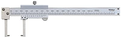 Mitutoyo 536-152 Vernier Caliper, Stainless Steel, Pointed Jaw, 0-150mm Range, +/-0.05mm Accuracy, 0.05mm Resolution