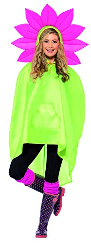 Smiffy's Women's Flower Party Poncho Costume