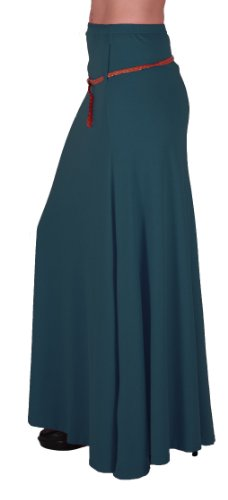 Maxi Romina Dames vase EyeCatch Longue Aux Jupe Belted Gitan Femmes Sarcelle Robe Jersey B84Uq