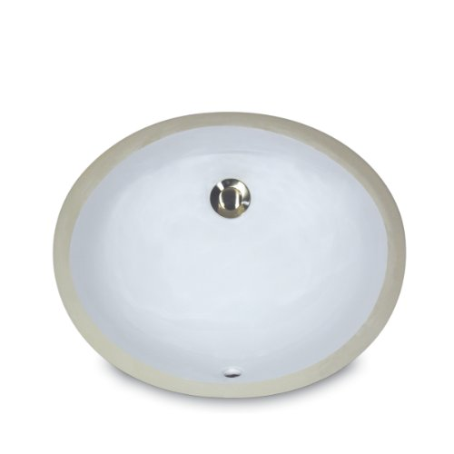 Nantucket Sinks UM-13x10-W 13-Inch  by 10-Inch  Oval Ceramic Undermount Vanity Sink, White (Oval Vanity Sink)