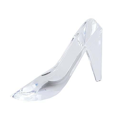 (LONGWIN Crystal Slipper Glass Figurine Party Centerpiece)