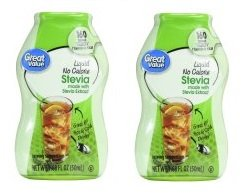 Great Value Liquid No Calorie Stevia Sweetener, 1.68 fl oz (Pack of 4) Natural Zero Calorie Sweetener
