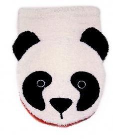 Organic Cotton, Washcloth Mitt Panda Bear Puppet, Child Size, by (Safari Washcloth)
