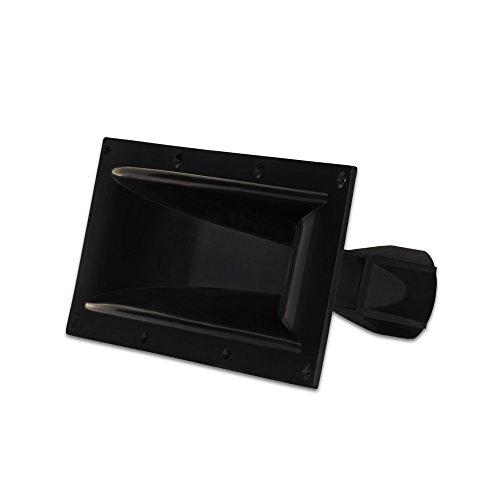 Goldwood Sound Molded Tweeter or Midrange Speaker Lense Heavy Duty Abs Directivity Speaker Horn Black (GM-600PB)