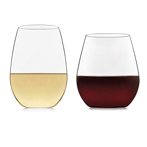 Libbey Signature Kentfield Stemless 12-Piece Wine Glass Party Set for Red and White Wines ()