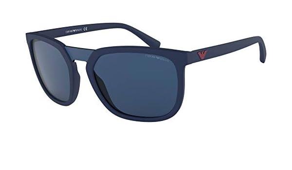 Emporio Armani 0EA4123 Gafas de sol, Matte Blue, 45 para ...