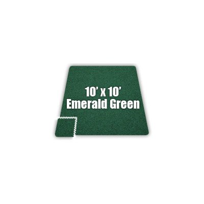 SoftCarpets Set in Emerald Green Size: 10′ x 14′