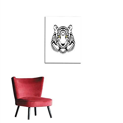 longbuyer Corridor/Indoor/Living Room Tiger Head Sign Mural 16