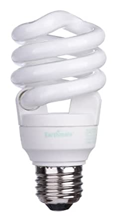 Earthmate EP1557AE 15-Watt Super Mini-Spiral CFL Full Spectrum Bulb, 6 Pack