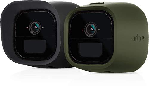 Arlo VMA4260-10000S Go Skins - Set of 2 Skins - Designed for Go Wire-Free Cameras, Green & Black