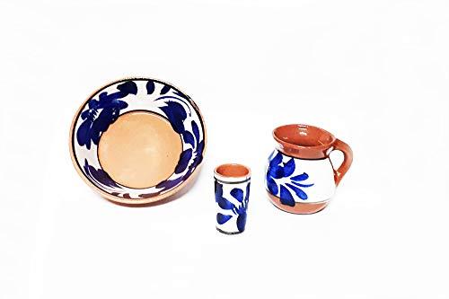 Vajilla De Ceramica 12 Piezas - ALFAREROS MEXICANOS Los Compadres