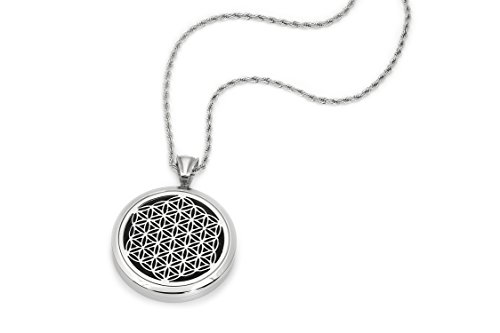 UNISEX Essential Oil Diffuser Necklace - Aromatherapy Jewelry - Hypoallergenic 316L Surgical Grade Stainless Steel, 24